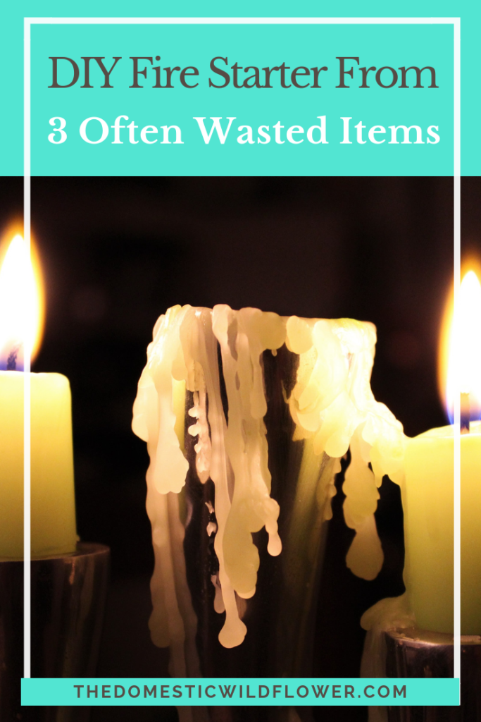 How to Create a Firestarter from 3 Often Wasted Items