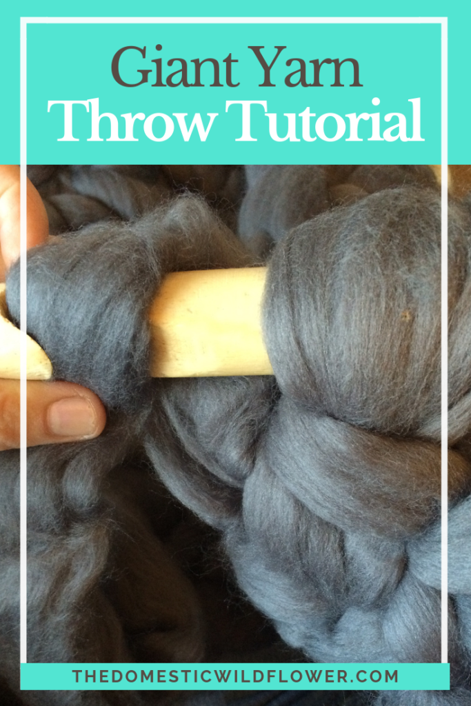 Giant Yarn Throw Tutorial