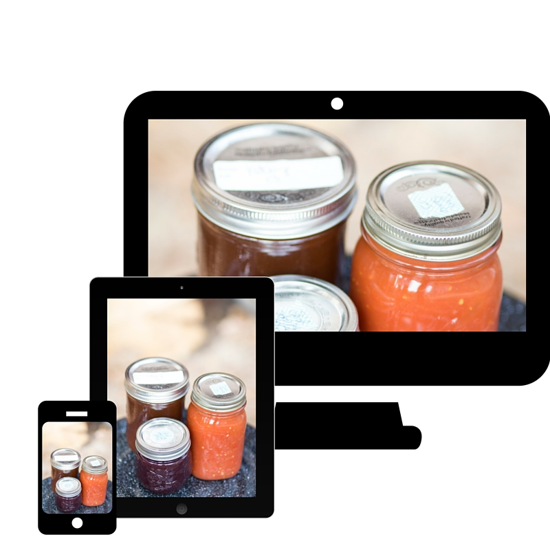 Start Canning E Course | The Domestic Wildflower the canning course for busy beginners! Click to enroll now and learn how to can with confidence!