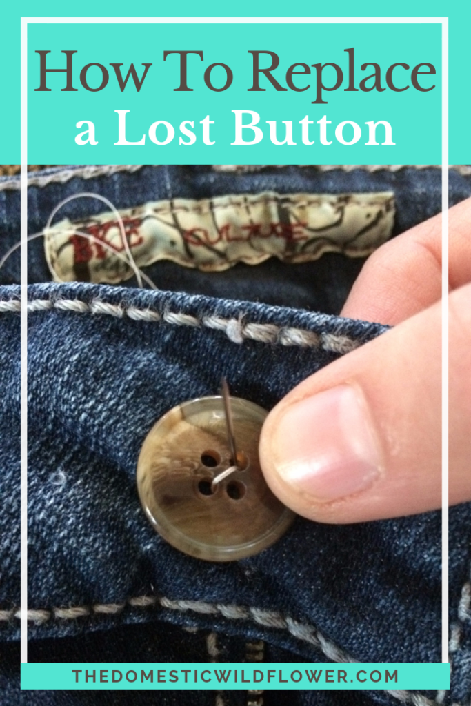 How to Replace a Lost Button on Your Jeans
