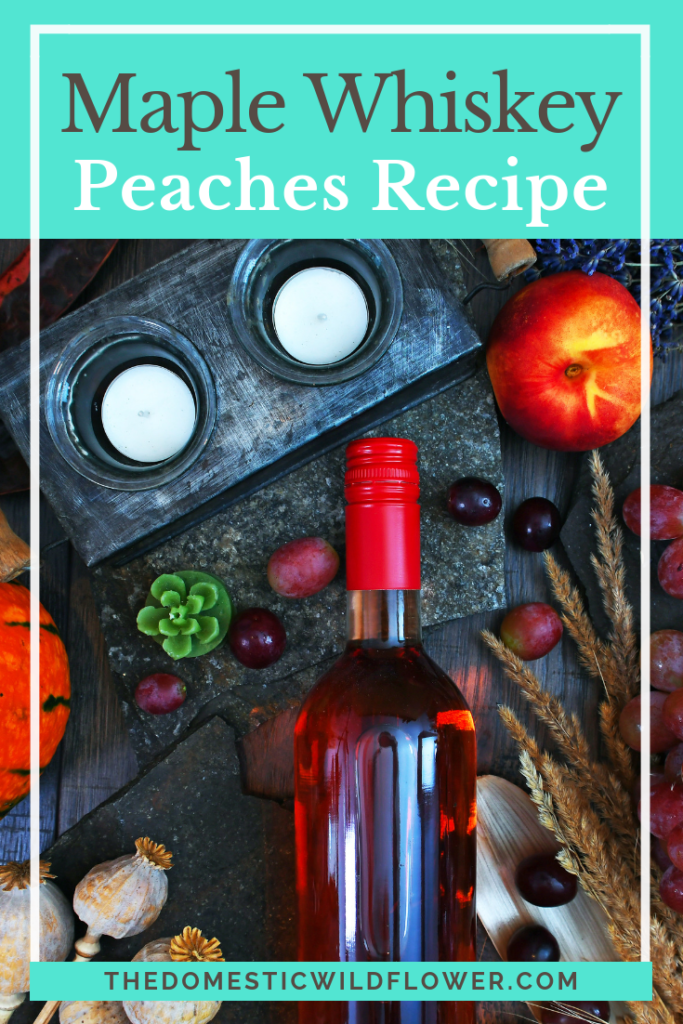 Maple Whiskey Peaches