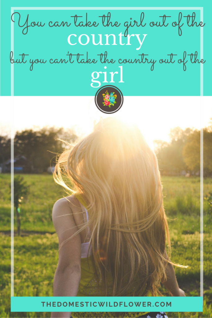 You can take the girl out of the country, but you can't take the country out of the girl | 19 Inspirational Quotes for Country Girls | The Domestic Wildflower click through to read this awesome post! These encouraging and inspirational quotes explain what it means to have the heart of a country girl.