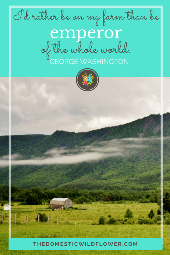 I'd rather be on my farm than be emperor of the whole world | 19 Inspirational Quotes for Country Girls | The Domestic Wildflower click through to read this awesome post! These encouraging and inspirational quotes explain what it means to have the heart of a country girl.