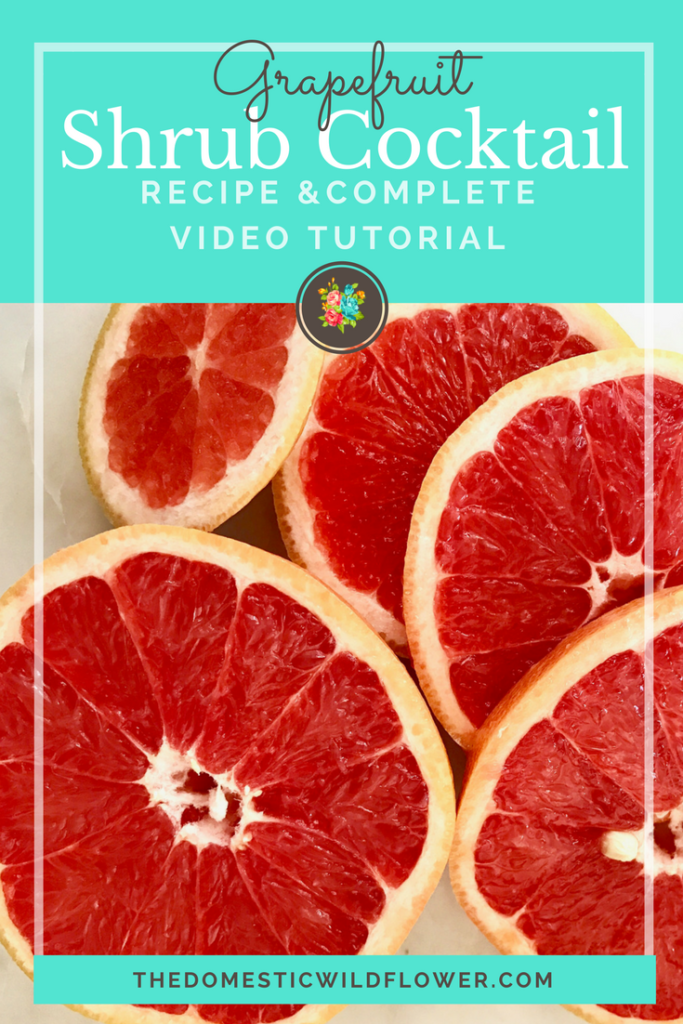 Grapefruit Shrub Cocktail | Recipe & super helpful video tutorial! Shrubs are a yummy fruit concoction that is so good in mixed drinks! Watch her make one!