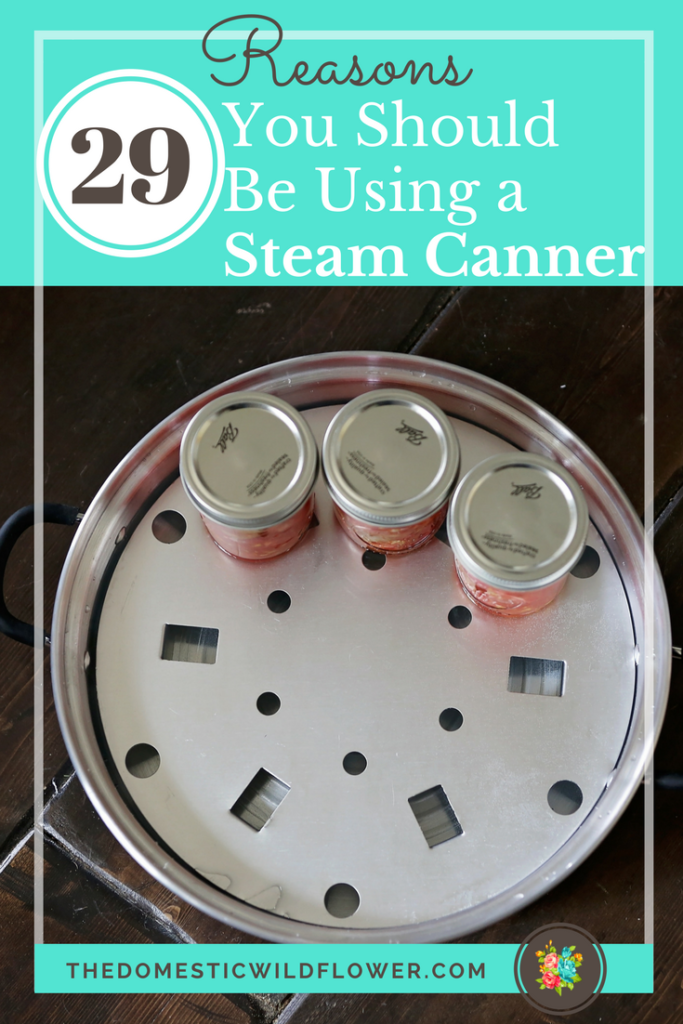 29 Reasons You Should Be Using a Steam Canner | Read this super helpful post that explains all about the hot new technology in the canning world that's perfect for beginners! There's even a free fact sheet & equipment list!