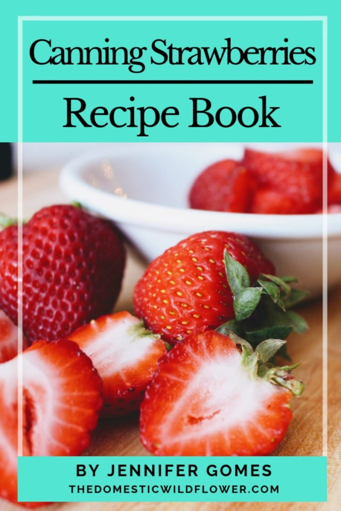Canning Strawberries Recipe Book Cover
