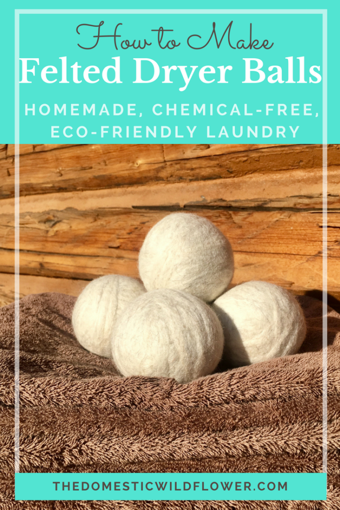 How to Make Felted Wool Dryer Balls for Homemade, Chemical Free Laundry! Read the post for the super clear tutorial!