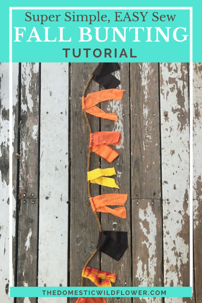 Easy Sew Fall Decor Bunting Tutorial | This tutorial is super easy and she links to such cute rope and ribbon to make it! Definitely making this!