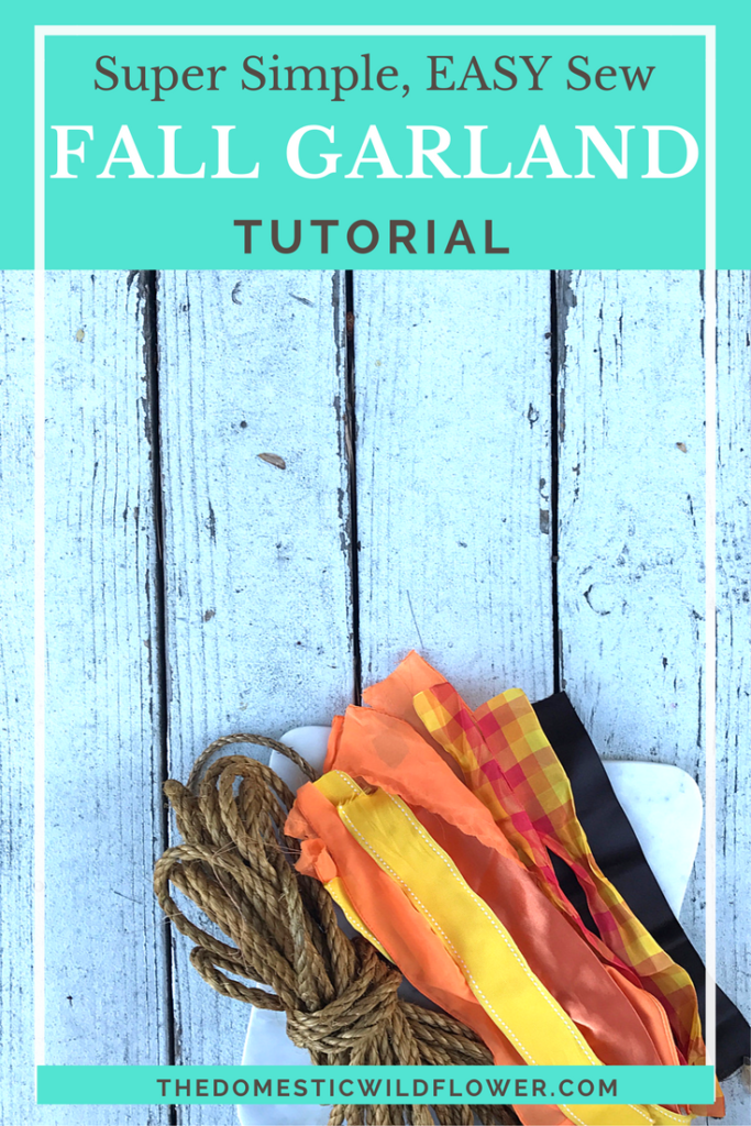 Fall Bunting Garland | This tutorial is super easy and she links to such cute rope and ribbon to make it! Definitely making this!