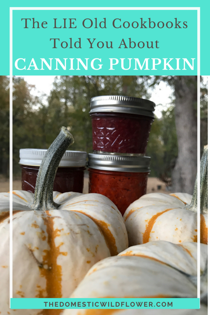 Canning Pumpkin | This post explains why canning pumpkin is not safe and why old cookbooks said you could. Great info in this post!