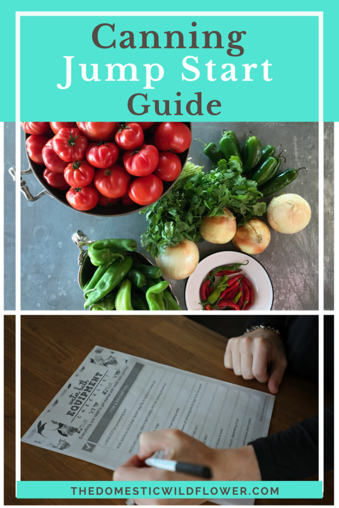 Canning Jump Start Guide | Wish you could learn to can like Grandma did? This guide makes canning easy and fun for a modern, busy home! Get started preserving healthy, fresh produce today!