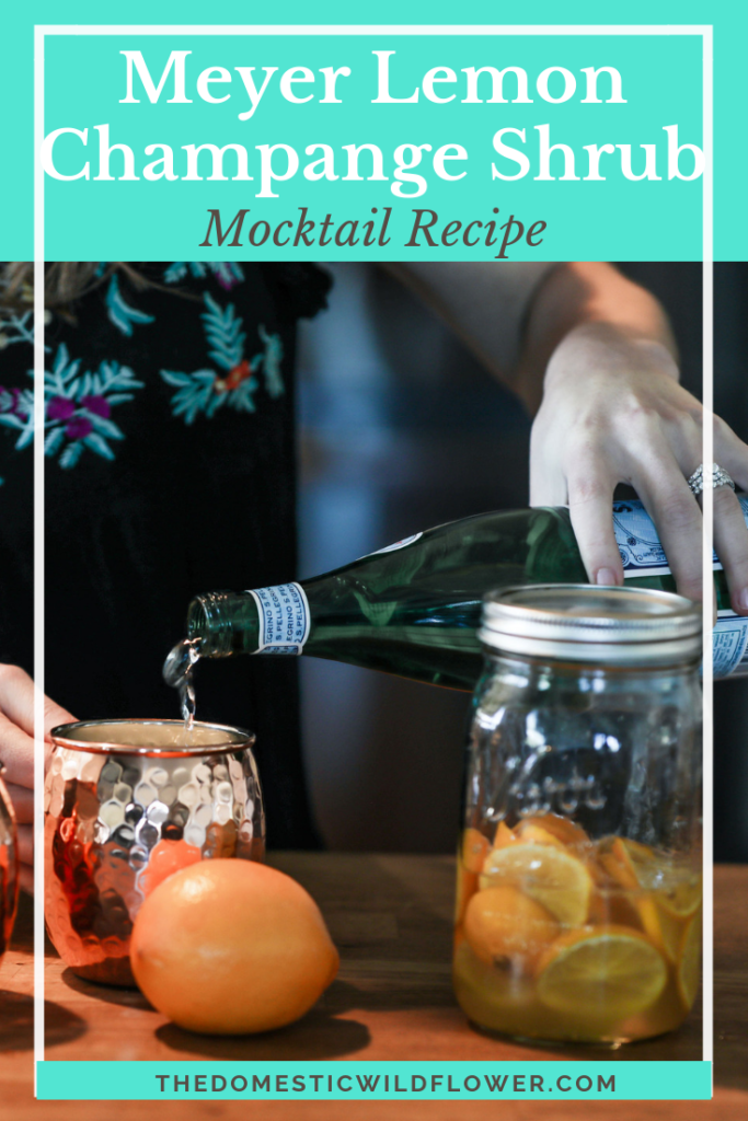 Meyer Lemon Champagne Shrub Recipe