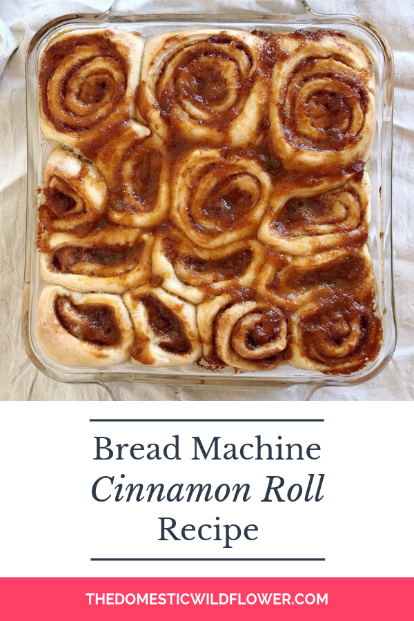 Bread Machine Cinnamon Roll Recipe | Super simple recipe that's perfect for making the night before!