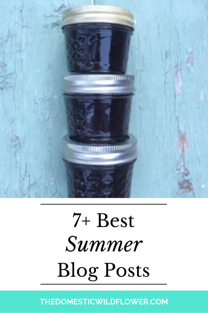 7 Summer Blog Posts from The Domestic Wildflower   Homemade food & craft ideas and recipes to take you through summer!