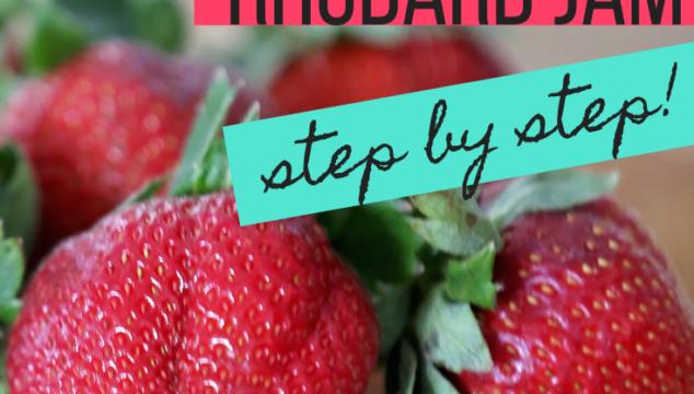 Strawberry Rhubarb Jam Canning Recipe